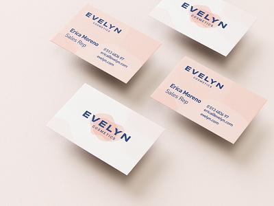 Evelyn Cosmetics | Business cards business card cosmetics brand graphic design beauty ux ui logo illustration vector branding mark photoshop design logo design
