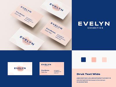 Evelyn Cosmetics cosmetics beauty illustrator nramd ux ui logo illustration vector branding mark photoshop design logo design