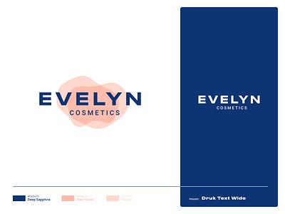 Evelyn Cosmetics  | Lockup ux ui illustration illustrator vector branding brand logotype combination mark mark lockup graphic design design logo logo design