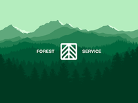 🌲 Forest Service | Vector landscape wallpaper 🌲