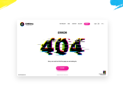 🎨 Daily UI | 404  Error Page | CHROMA Project 🎨