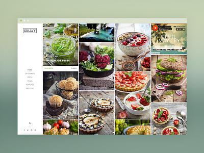 Gullvy Blog Theme sidebar wordpress theme food blog ux ui