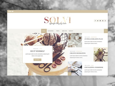 Sølvi - An elegant Lifestyle WordPress Blog Theme wordpress ux ui instagram theme lifestyle fashion blog