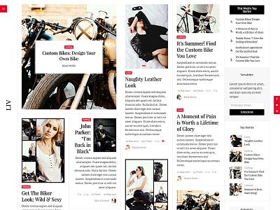 Liv - A Newspaper Inspired WordPress Theme instagram blog newspaper theme wordpress
