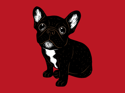 Cute Brindle Frenchie Puppy pop art illustration drawing animal cute dog puppy love pets life french bulldog brindle frenchie