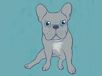 Come Pet The Cute Blue French Bulldog Puppy Digital Art illustration digital art painting drawing puppy cute dog dog lover pet dog blue frenchie french bulldog frenchie