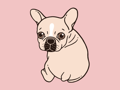 Cute cream Frenchie needs some love frenchie design drawing illustration pets life cute puppy dog lover cute frenchie french bulldog cream frenchie
