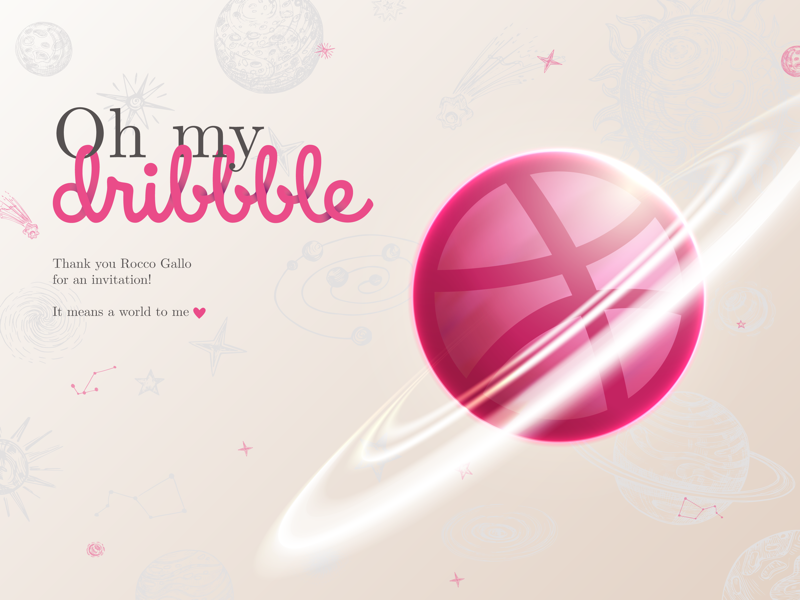 Officially on Dribbble💗 invite dribbble new on dribbble thank you dribbble invite welcome to dribbble welcome