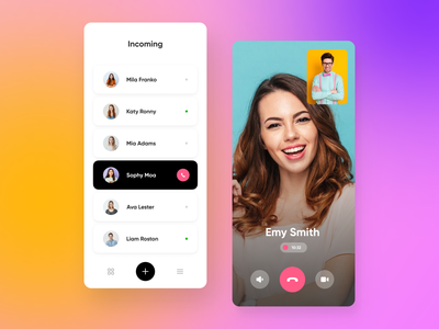UCall App - Calls And Messaging colors mobile uiux clean chat app icon android ios message gradient ux ui clear minimal app chatting chat social call messenger