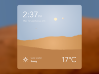 Mars Weather Dashboard Widget - Day