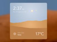 Mars Weather Dashboard Widget - Day martian widget weather dashboard space mars