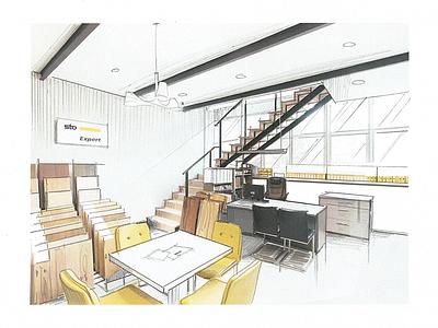 Commercial bright space design interiors sale commerce