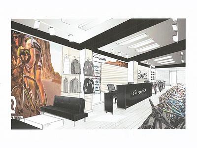 Corrado  architecture design shop bicycle rebrand interiors