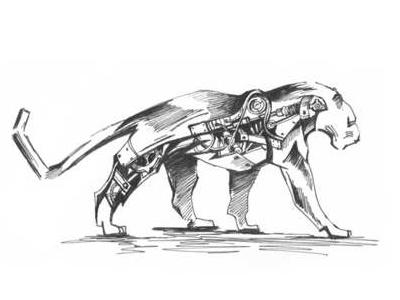 Lion sketch design illustration prawing