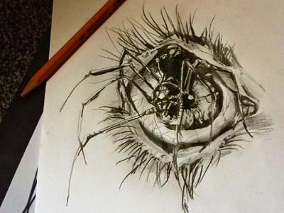 EYE vector paint design illustration concept drawing sketch