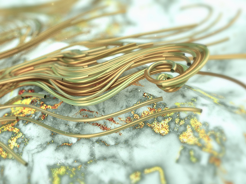 Gold strings xparticles after effects ae c4d