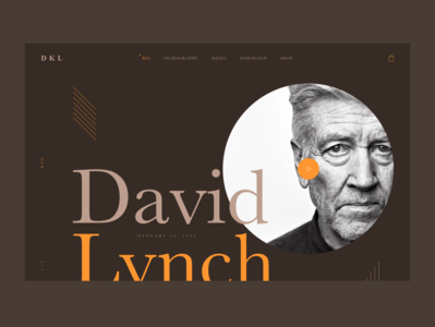 David Lynch Microsite home play layout decoration landing typo light dark web design webdesign website web design