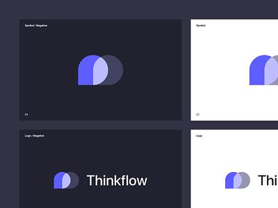Thinkflow Logo logo design logos logotypes logo symbol symbol logodesign branding typo logotype map mind map mind logo brand