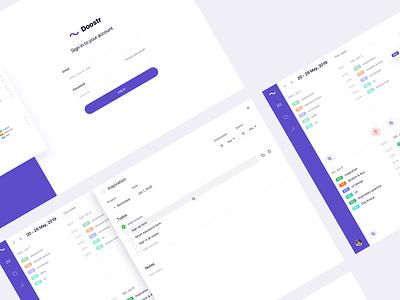 Doostr App Design app clean design ux login signin listing list todolist todo calendar layout uiux uidesign ui design ui