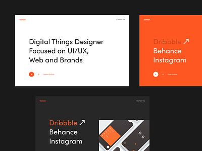 Frantatoman.com Design Update simple minimalism website clean webdesign layout landing minimal web design