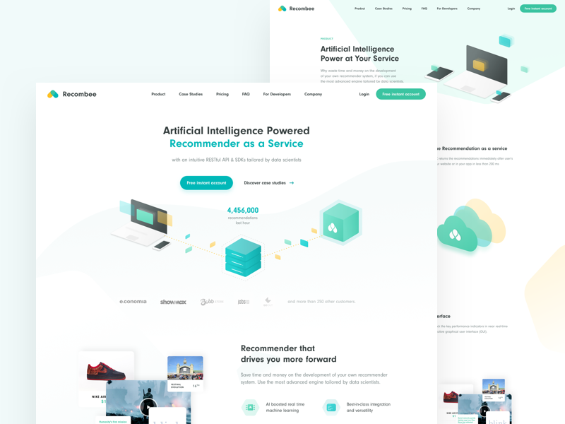 Recombee Webdesign Case Study by Franta Toman on Dribbble