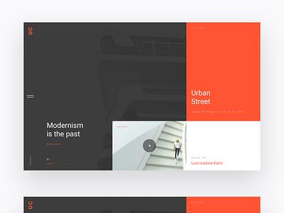 UC - Landing & Layout Design Concept typography layout website minimalism webdesign minimal ui ux landing web simple clean design