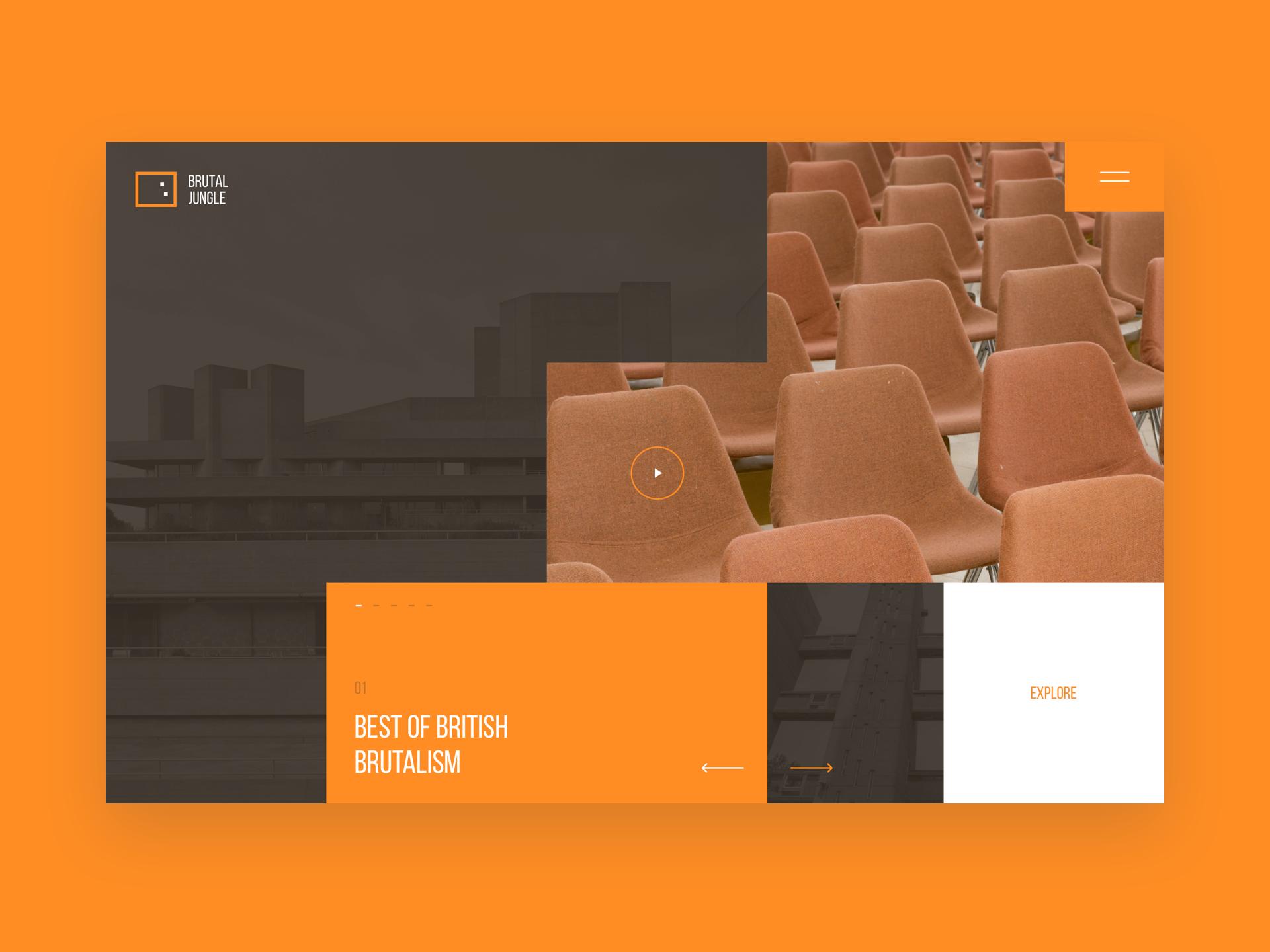 Franta toman design layout web brutal jungle