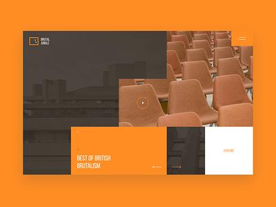 Brutal Jungle - Concept typography website ux ui clean layout design layout minimalism minimal web webdesign design landing