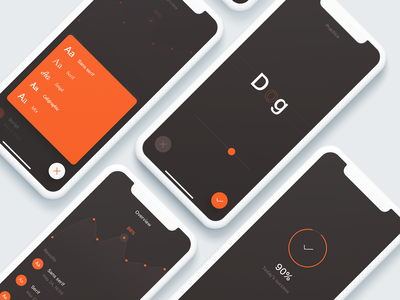 Keming App game settings action sheet action listing screen graph app ios typography typo mobile app mobile product ux simple clean design ui