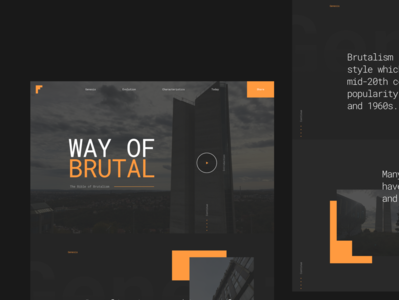 Brutalism Webdesign ux clean ui video homepage home landingpage architecture layout landing webdesign web design