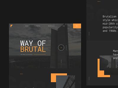 Brutalism Webdesign ux clean ui video homepage home landingpage architecture layout landing webdesign web design