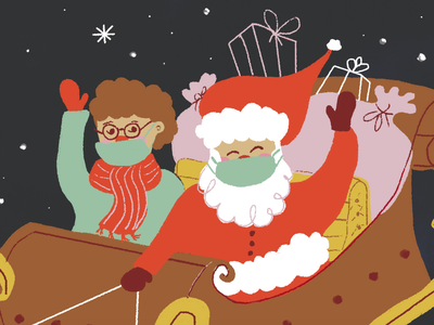 Santa santa illustration