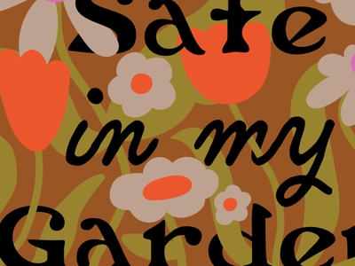 Safe in my Garden surface design floral flowers illustration