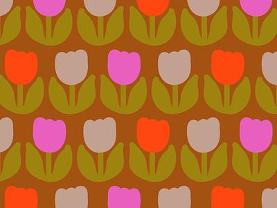 Tulips textile design floral flowers surface design