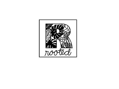 Rooted Logo branding logo