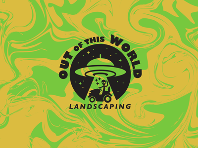 Out of this World Landscaping Logo