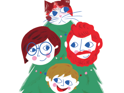 Some Christmas card action kyle webster christmas card tree illustration holiday christmas