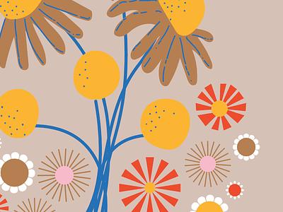 Flowers for custom quilt panel surface design quilt floral flowers