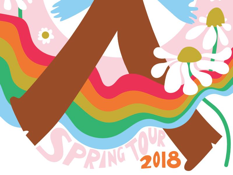Spring Tour 2018 frederick spring tour retro gig poster
