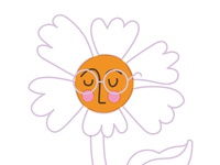 John Lennon as a flower