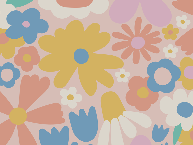 Floral floral surface design repeat pattern