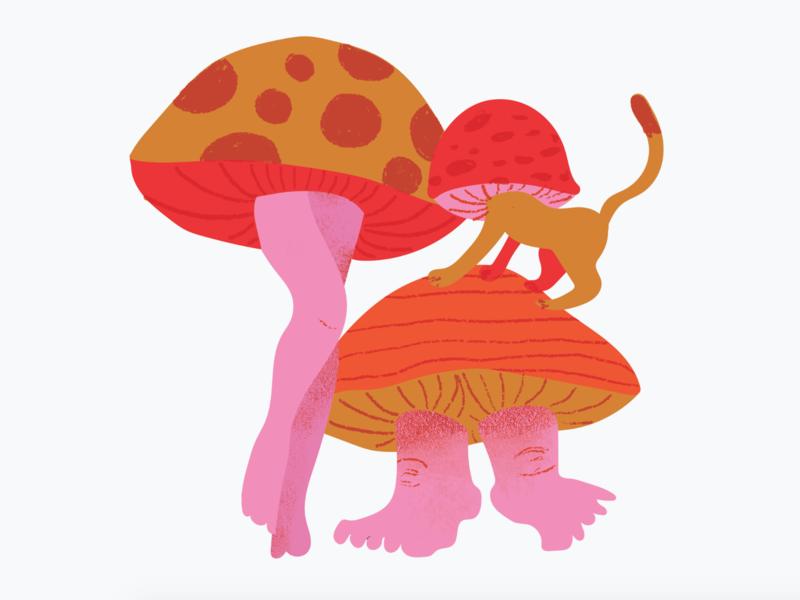 Mushroom People illustration mushroom