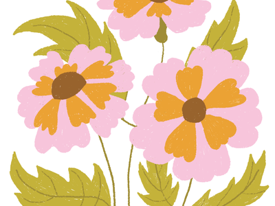 Floral illustration floral flowers