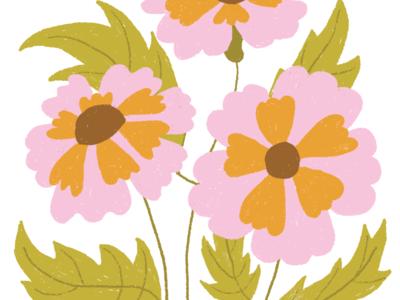 Floral illustration floral flowers