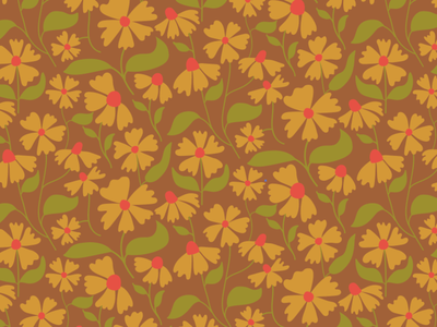 Coreopsis surface design repeat pattern