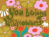 Tom Petty floral illustration wildflowers tom petty flowers