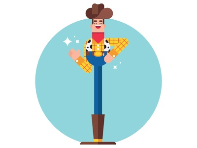 Reach for the sky!  stars red blue yellow wave smile hat illustration disney woody toystory character