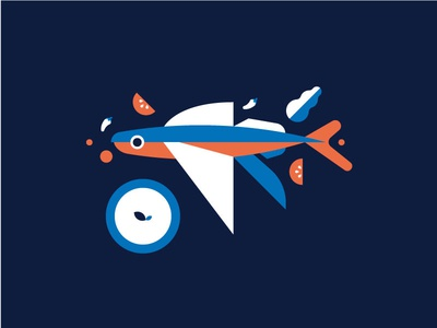 Barbados Coo Coo and flying fish