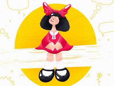 Mafalda texture kids quino mafalda ipad procreate illustration