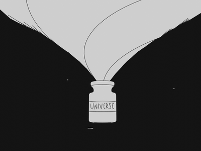 The Universe Is Calling 👁👁 eyes cat jar stars universe loop render animation 3d blender illustration